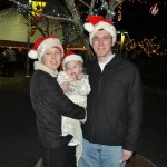 The family at the Santa Train